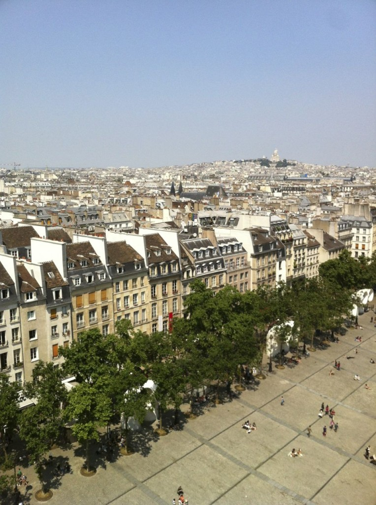 View from the top of the Pompidou